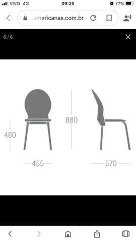 Cadeira zero km barbada acento e encosto em poliuretano - Foto 3