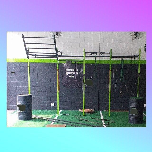 Gaiola Rack Crossfit  Pull Up C/ Gorila e Escada  - Foto 2
