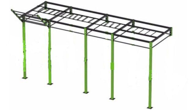 Gaiola Rack Crossfit  Pull Up C/ Gorila e Escada