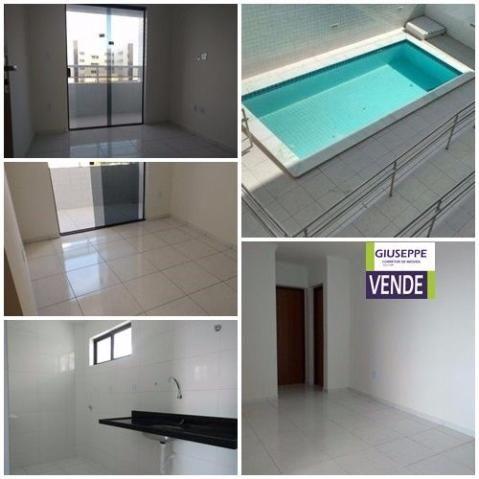 Apartamento 2 quartos no José Américo, piscina, novo