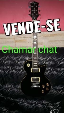 V/T Guitarra Les Paul + 2 pedais e fonte