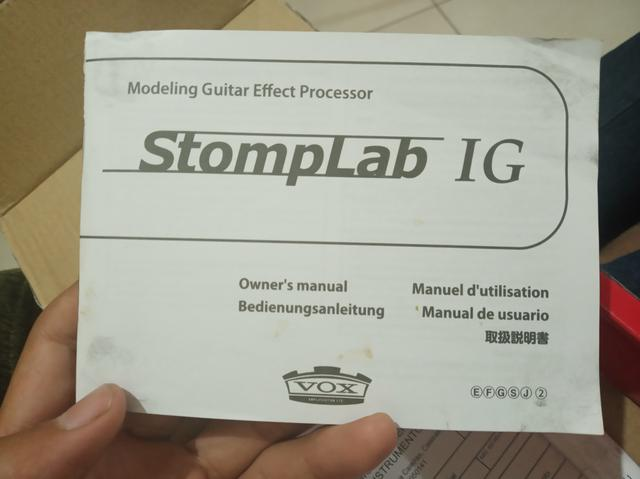 Pedaleira Vox stomplab 1g - Foto 3