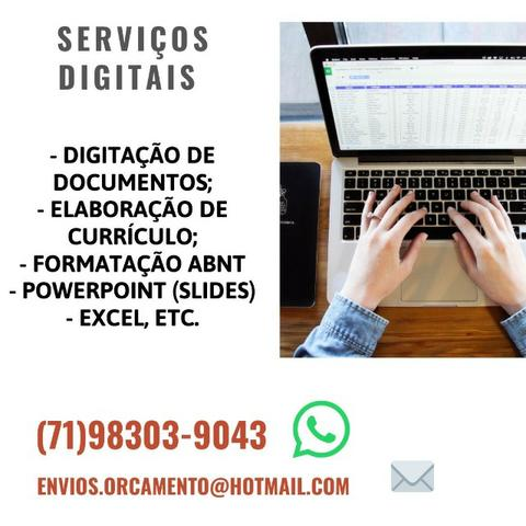 Formatação ABNT, Revisão, Digitação, Currículo, Slides, Excel etc