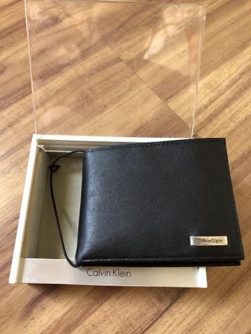 3b43081a0d122 Carteira masculina Calvin Klein couro - Bijouterias, relógios e ...