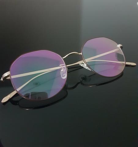 a88e24457 Armação Hexagonal Óculos de Grau Redondo Blue - Masculino e Feminino ...