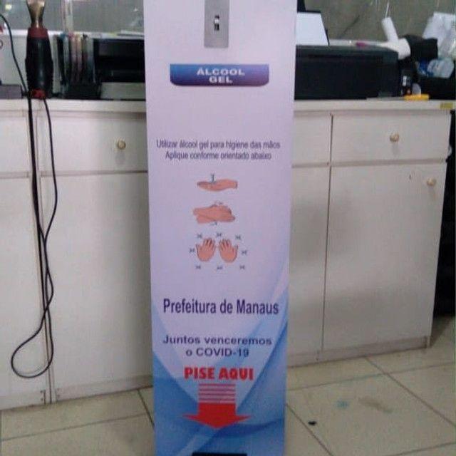 Totem dispensador para álcool em gel - Foto 3