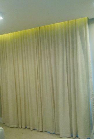 Cortina de linho com blackout lavável - Foto 2