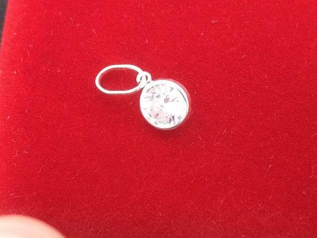 Pingente Prata Pura 925 Redondo 6 mm Produto Novo com Garantia