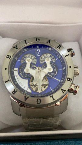 Relógio BVLGARI Híbrido Prata Automático a prova d'água