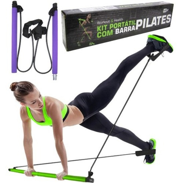 Kit Portátil com Barra Pilates MBfit