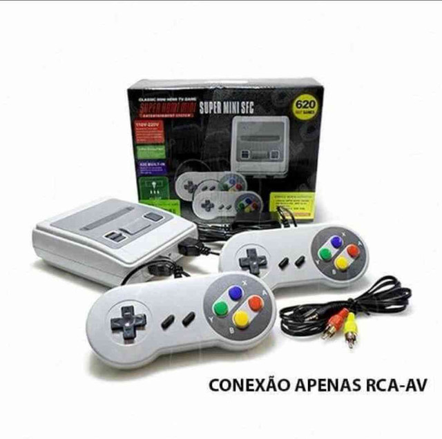 Video Game Nintendinho Eony 8 bits  Video Game 620 Jogos Clássicos