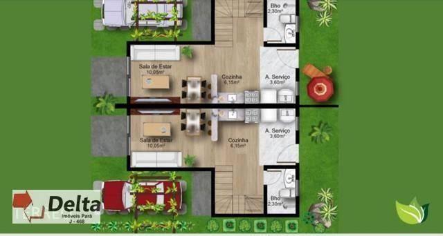 Casa com 2 dormitórios à venda, 80 m² por R$ 225.000,00 - Águas Lindas - Ananindeua/PA - Foto 2