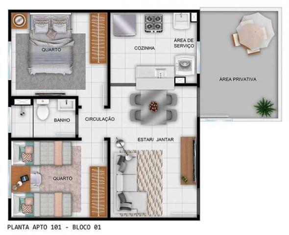 Parque Rio das Vertentes - Apartamentos de 2 dorms. 39 ou 45m² - São José do Rio Preto - S - Foto 13