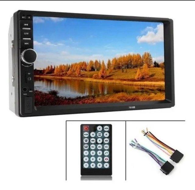 Multimídia mp5 tela 7 Bluetooth espelhamento fia cabo