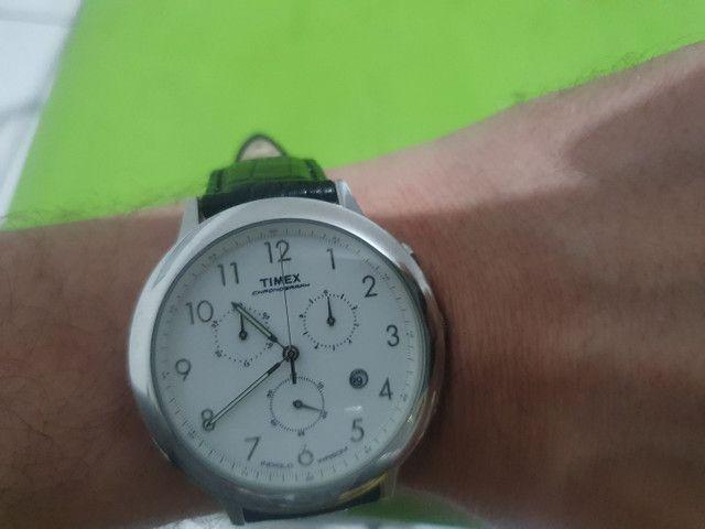 Relógio Timex com pulseira de couro de 35 mm <br><br>
