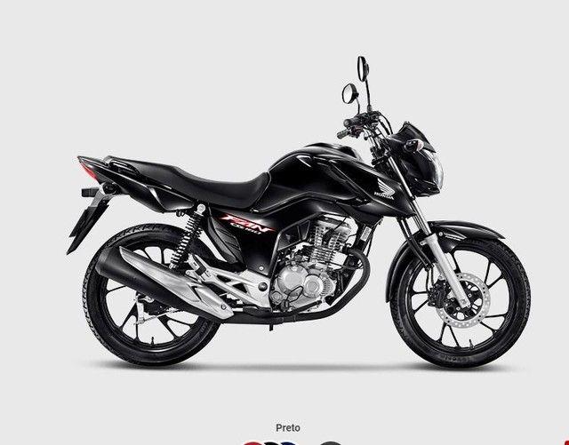 Moto Honda CG FAN 160 PRETA COMPLETA 2022