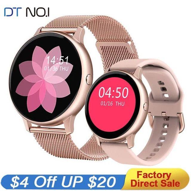 Relógio Inteligente Smartwatch Dt88 Pro Rosa Original - Foto 5