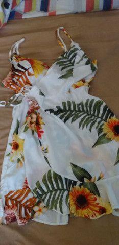 Macaquinha jeans e um vestido P/M novos .  - Foto 3