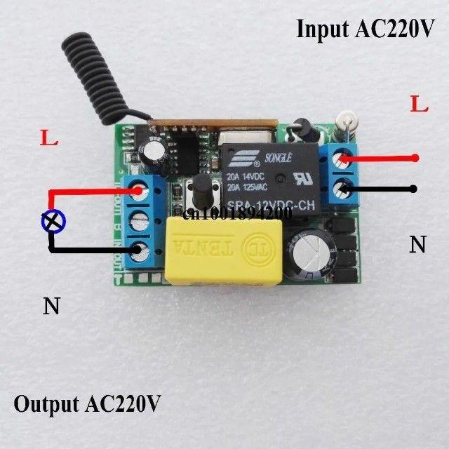 Interruptor Parede Duplo Lampada Relé Wifi Controle Remoto - Foto 5