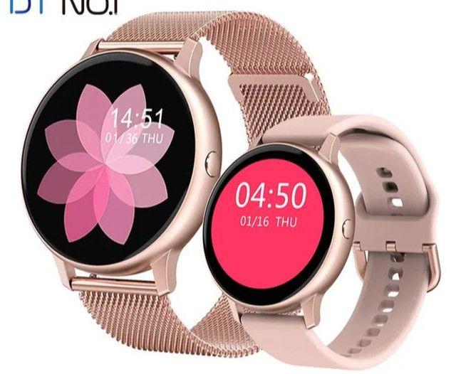 Relógio Inteligente Smartwatch Dt88 Pro Rosa Original - Foto 4
