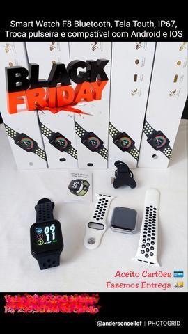 Relógio Smart Watch F8 Sports Tela Touth, foto na tela, IP67, 42mm, Android e IOS
