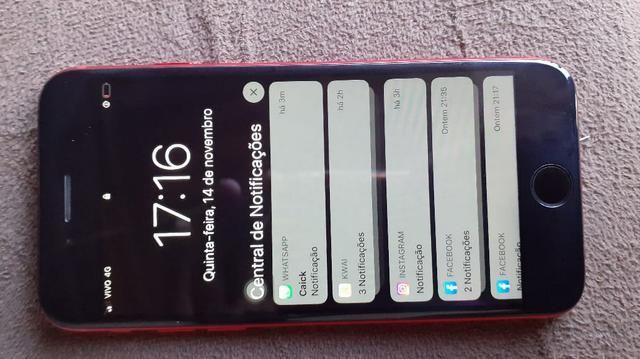 Vendo ou troco iPhone 7red 128gb - Foto 2