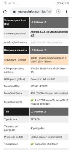 Celular LG Optimus L5 - Foto 4