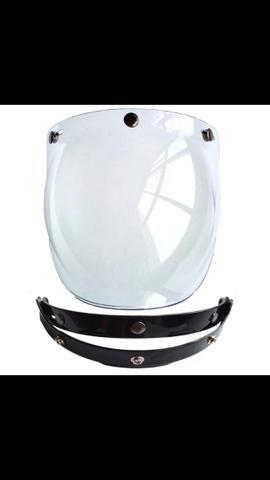 Flip suporte viseira bolha bubble 3 botões universal importado