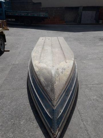 Barco de alumínio e reboque - Foto 2