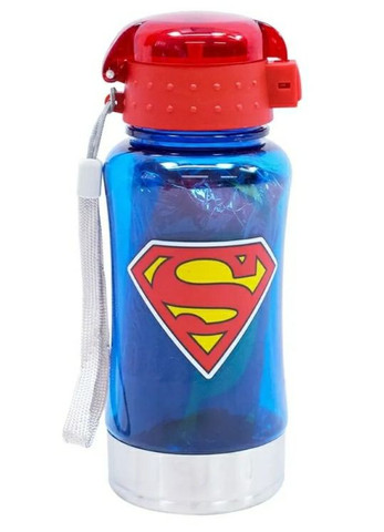 Garrafa 450ml Com Mochila Tipo Saco Superman Liga Da Justiça - Foto 4