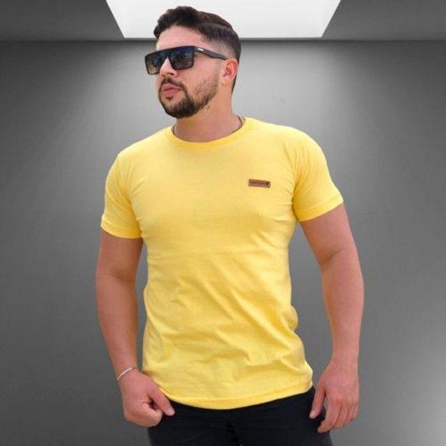 Kit 10 camisas lisas manga básica Algodão - Foto 4
