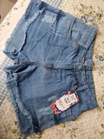 Vendo jeans novo sem uso shorts e calça