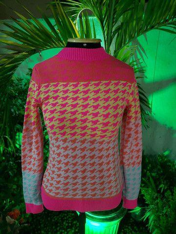 Blusa manga tricot modal