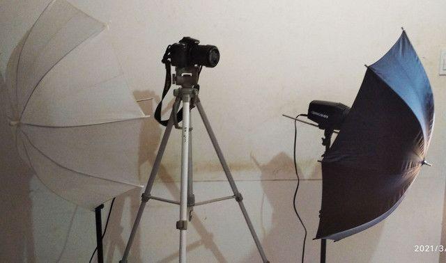 Máquina Fotográfica kit estúdio  - Foto 2