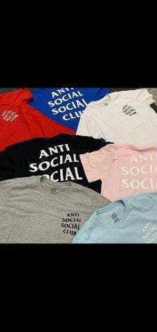 Camisetas anti social social club/ M G GG