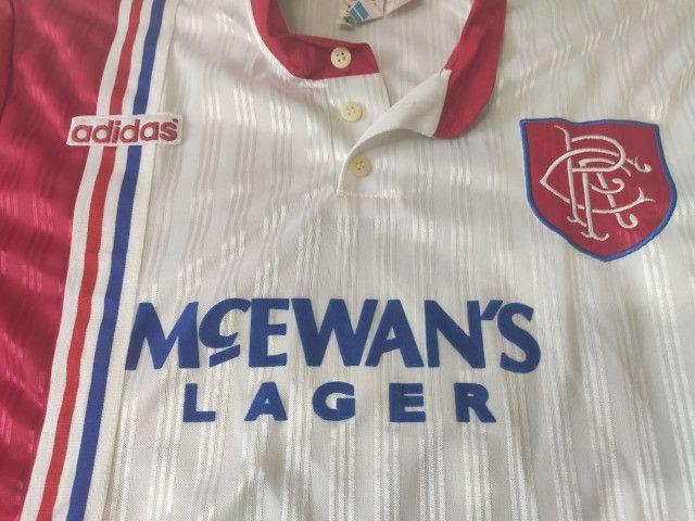 Camisa do Glasgow Rangers da Escócia Oficial II Adidas 1996 - Foto 4