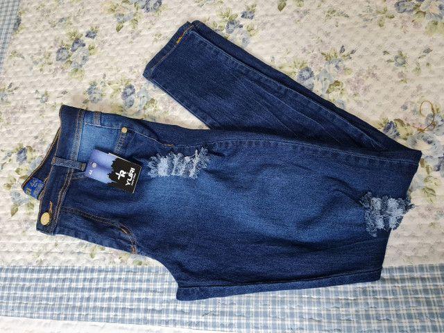 Vendo jeans novo sem uso shorts e calça  - Foto 3