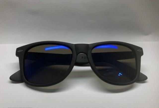 86413c1ca Óculos De Sol Polarizado - Preto Fosco C/ Lente Azul - Bijouterias ...
