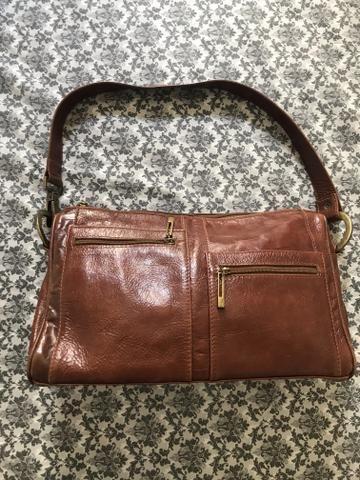 8693592f8 Bolsa feminina em couro artesanal marrom café - Bolsas, malas e ...