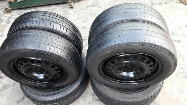 Rodas e pneus original GM 4 furos.baratoo