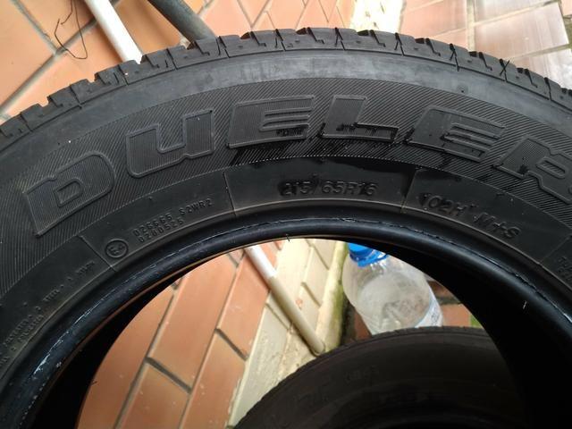 Kit estepe pneu bridgestone + roda ferro original Fiat toro - Foto 2