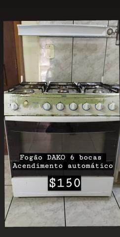 Fogão DAKO 6 bocas