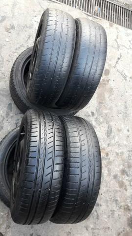 Rodas e pneus original GM 4 furos.baratoo - Foto 3
