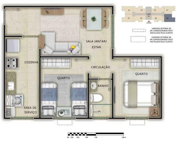 Apartamento de 2 quartos no Passaré - Foto 6