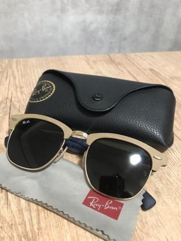 Óculos de Sol Ray-Ban Clubmaster madeira perfeito estado ... 6e09eecdae
