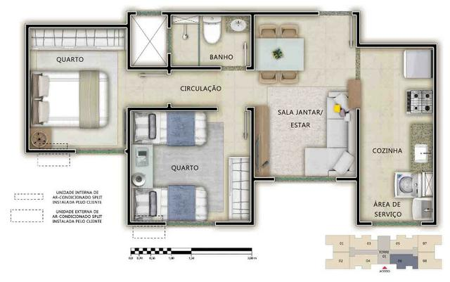 Apartamento de 2 quartos no Passaré - Foto 7