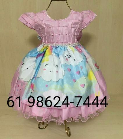 Vestido Infantil Chuva de Bençaos de Amor Luxo (61 98624-7444) 7bbc457578e