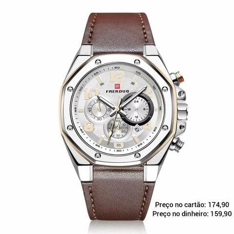 Relógio masculino original Faerduo cronógrafo premium - Foto 2