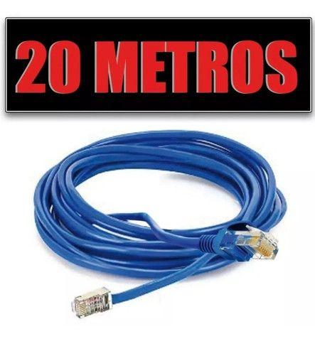 Cabo De Rede Azul Internet 20m Lan Rj45 Mbtech Mb71153 - Foto 4