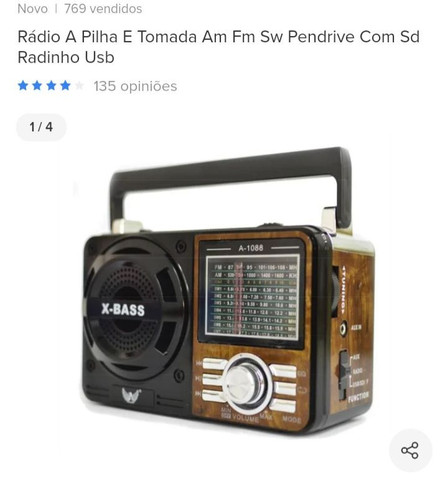 Radio recarregável